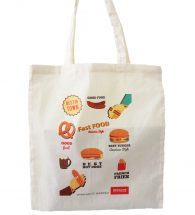 Light shopper bag personalized with FC SHOPPER