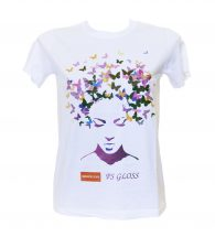 White t-shirt personalized with Flex Gloss P&C (PSGLOSS)