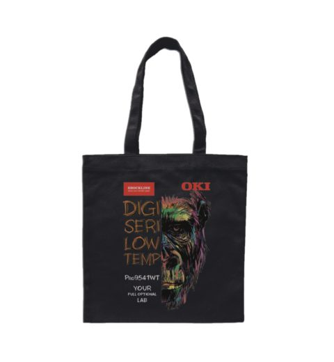 Dark shopper bag personalized with Digiseri9541 system - Low Temperature