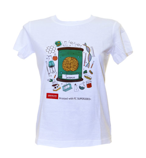 Maglietta bianca personalizzata con FC SUPER2003+