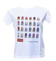 White t-shirt personalized with Flex Soft Morbi (PSMORBI)