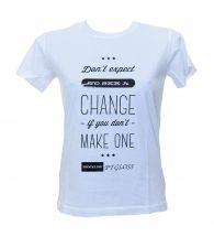 T-shirt biała persalizowana z Flex Gloss Color (PTGLOSSSTD)