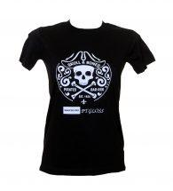 Dark t-shirt personalized with PTGLOSSSTD White