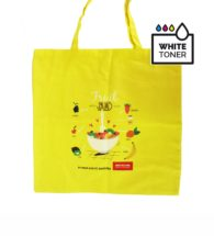Yellow shopper bag personalized with FC SHOPPER