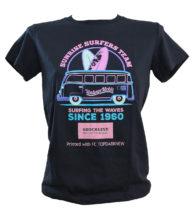T-shirt colorata personalizzata con topdark stampato con Pro 6410 neon