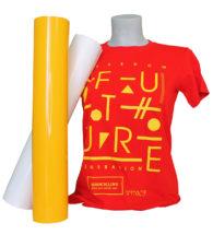 T-shirt rossa personalizzata con Flex 70CF standard (PT70CFSTD)