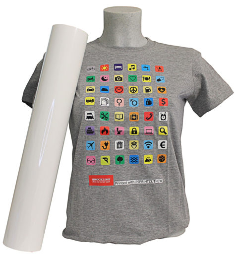 T-shirt colorata stampata con PSPRINTCUTVEW