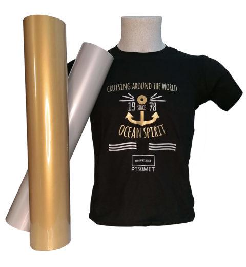 T-shirt Colorata personalizzata con Flex 50 colori metallizzati opachi (PT50MET)