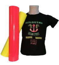 T-shirt Colorata personalizzata con Flex 50 fluo (PT50FLUO)
