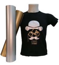 T-shirt Colorata personalizzata con Flex 70 oro, argento e perla metallizzati opachi (PT70MEO)