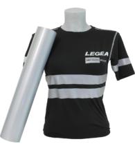 T-shirt nera personalizzata con Flex Rifrangente colore Argento (PT70RIF)