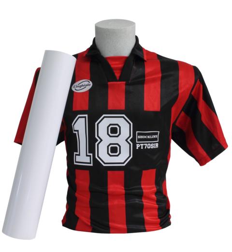 T-shirt nera personalizzata con Flex Subli stop colore Bianco (PT70sir)