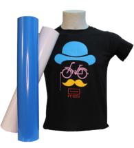 T-shirt nera personalizzata con Flex PT70 standard e colori speciali(PT70STD-SPC)