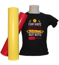 T-shirt stampata con Flock termoadesivo per cotone, poliestere e acrilico