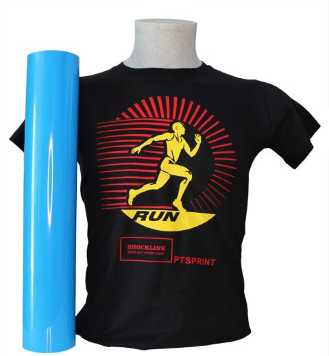T-shirt nera personalizzata con Flex Sprint colore speciale (PTSPRINTSpc)