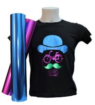 T-shirt Colorata personalizzata con Flex 70MELC colori metallizzati lucidi (PT70MELC)