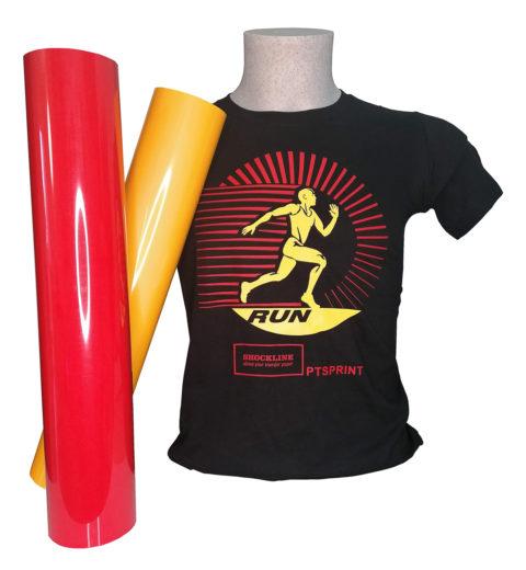 T-shirt nera personalizzata con Flex Sprint standard (PTSPRINTSTD)