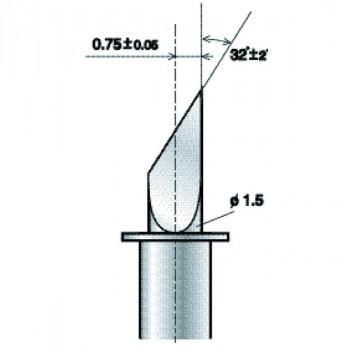 Lama da taglio ZECU30 75 con offset di 0.75 mm per cartoncino (PL ZECU30 75)
